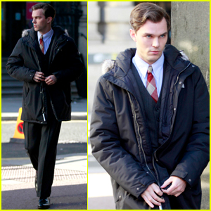Nicholas Hoult Gets Into Character on the Set of 'Tolkien'