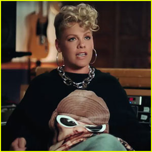 Pink Reveals First Look at 'Beautiful Trauma' Short Film 'On the Record' - Watch Now!