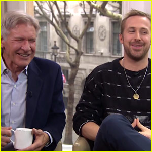 This Ryan Gosling & Harrison Ford Interview Will Have You Near Tears It's So Funny - Watch Now!