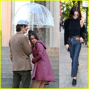 Selena Gomez Gets Soaked While Filming a Rainy Scene Before Grabbing a Sweet Treat!