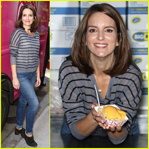 Tina Fey Celebrates 'Mean Girls' Box Office Opening Day with Cheese Fries Truck!