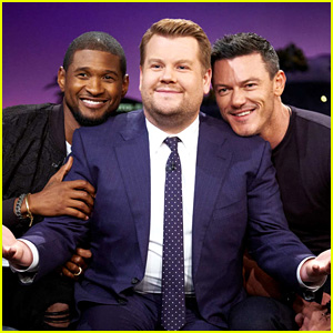 Usher, Luke Evans & James Corden Have a Sensual Sing-Off - Watch Now!