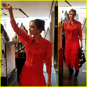 Victoria Beckham Celebrates Her Estee Lauder Collection in Dublin!
