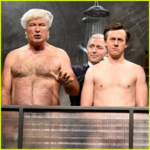 Alec Baldwin Strips Down as Trump for 'SNL' Cold Open! (Video)