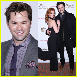 Andrew Rannells & Colin Donnell Step Out To Support 'Home for the Holidays' Broadway Opening Night!