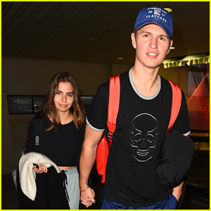 Ansel Elgort & Violetta Komyshan Hold Hands, Look So Happy Together