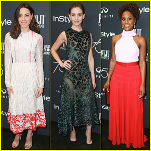 Aubrey Plaza, Alison Brie & Issa Rae Glam It Up at InStyle's Golden Globes 2018 Celebration!