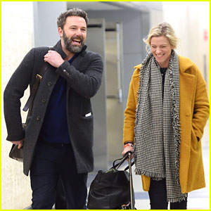 Ben Affleck & Lindsay Shookus Are All Smiles at the Airport!
