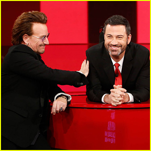 Bono, Chris Martin & Sean Penn Take Part in Duet During Jimmy Kimmel's Special Star-Studded (RED) Episode!