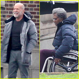 Bruce Willis & Samuel L. Jackson Get Into Character on Set of 'Glass'!