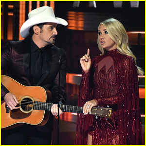 Brad Paisley & Carrie Underwood Make Fun of Trump With 'Before He Tweets'  at CMA Awards 2017 - Watch!