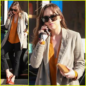 Dakota Johnson Grabs Coffee on a Leisurely Break in L.A.