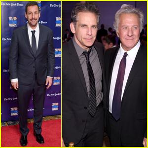 Dustin Hoffman, Adam Sandler & Ben Stiller Traer 'Meyerowitz Historias de' a los Premios Gotham de 2017