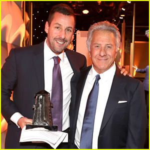 Dustin Hoffman Appears at Hollywood Film Awards to Present to Adam Sandler