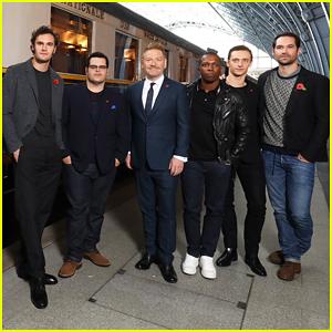 Josh Gad, Kenneth Branagh & 'Murder on the Orient Express' Guys Reunite in London!