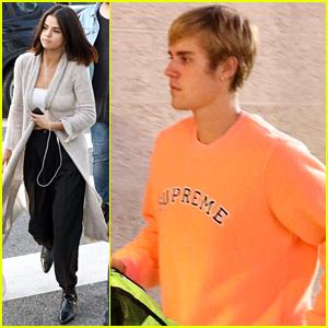 Justin Bieber & Selena Gomez Attend Second Church Service of the Day