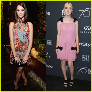 Kaya Scodelario & Saoirse Ronan Step Out For HFPA's Golden Globes Ambassador Announcement