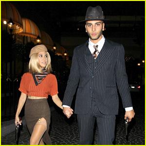 kourtney kardashian younes bendjima do a couples costume for halloween