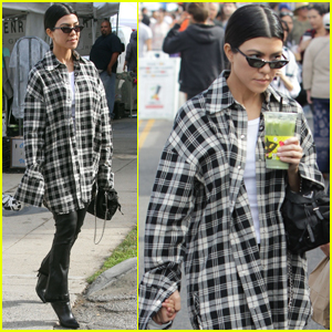 Kourtney Kardashian & Reign Hit the Farmers Market After Church!