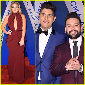 Lauren Alaina Joins Dan + Shay on CMA Awards 2017 Red Carpet Before Performance