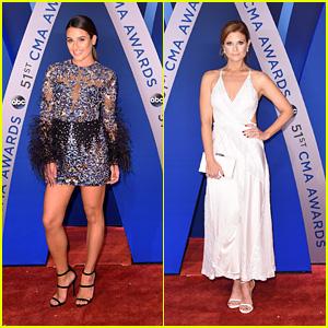 BFFs Lea Michele & JoAnna Garcia Swisher Hit the Red Carpet at CMA Awards 2017!