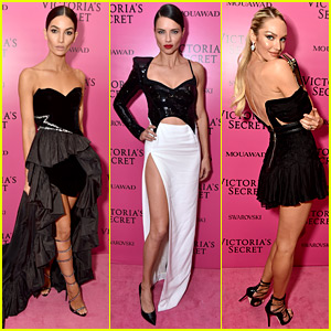 Lily Aldridge, Adriana Lima, & Candice Swanepoel Glam Up After the VS Fashion Show!