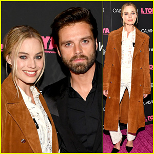 Margot Robbie Wears Lace Outfit to 'I, Tonya' NYC Premiere with Sebastian Stan