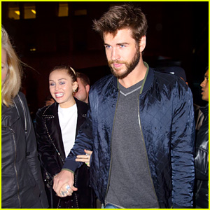 Miley Cyrus & Liam Hemsworth Hold Hands at 'SNL' After Party