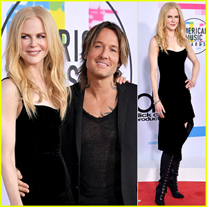 Nicole Kidman Supports Husband Keith Urban at American Music Awards 2017