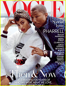 Pharrell Williams Covers Vogue's Special December Issue with Model Imaan Hammam!
