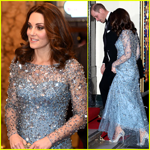 Pregnant Kate Middleton Gives Us Elsa Vibes in Icy Blue Dress!