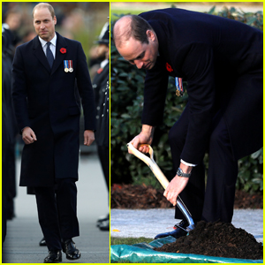 Prince William Plants a Tree to Celebrate Police Academy Graduation!