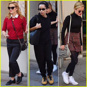 Reese Witherspoon & Daughter Ava Join Zoe Kravitz for Lunch in NYC!