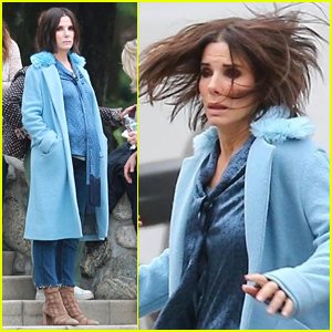 Sandra Bullock Shows Off Her Shorter Hair on Set of 'Bird Box'