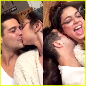 Sarah Hyland & Wells Adams Pack on PDA, Look So Happy Together!