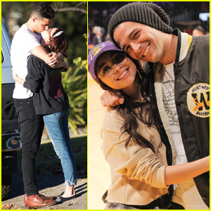 Sarah Hyland & Wells Adams Couple Up Courtside at Lakers Date Night!