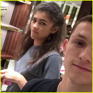 Zendaya spends the day hanging out with tom holland tom holland zendaya spends the day hanging out with tom holland stopboris Images