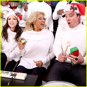 Anna Kendrick & Jimmy Fallon Sing 'Christmas' With Classroom Instruments (Video)
