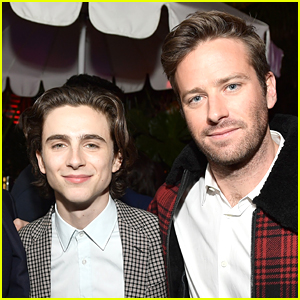 Armie Hammer & Timothee Chalamet Buddy Up for GQ's Men of the Year Party