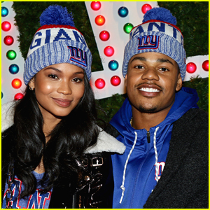 Chanel Iman & New Fiance Sterling Shepard Help Kick Off Christmas in NYC