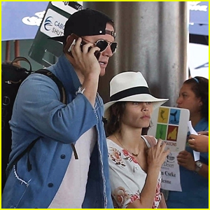 Channing Tatum & Jenna Dewan-Tatum Jet to Mexico for Her Birthday