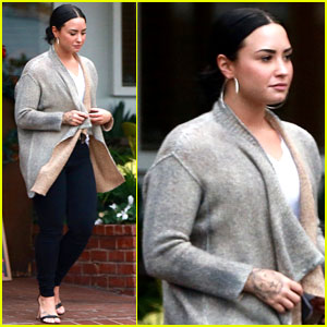 Demi Lovato Steps Out After Sister Madison's 16th Birthday Bash