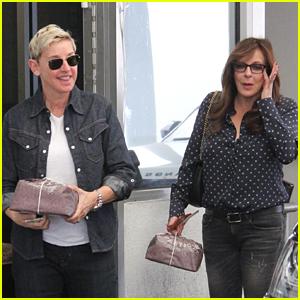Ellen DeGeneres Grabs Lunch with Allison Janney in Beverly Hills