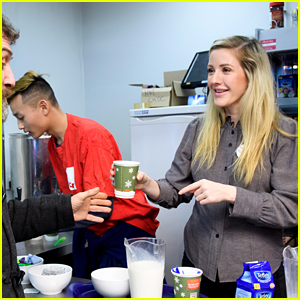 Ellie Goulding Volunteers Her Time at a Homeless Shelter