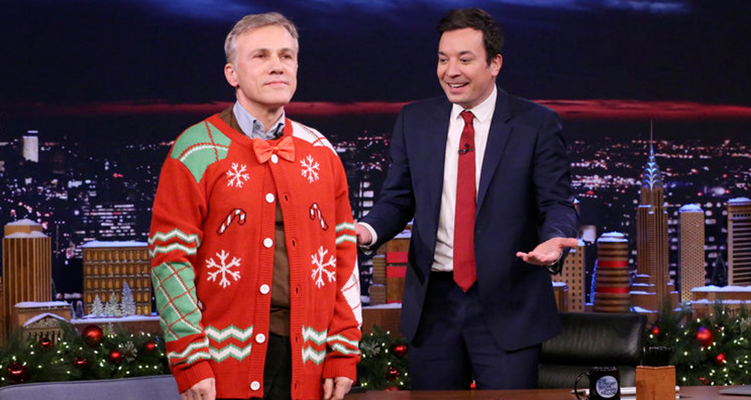 Jimmy Fallon Forces Christoph Waltz To Get Into Holiday Spirit on ...