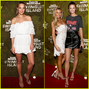 Hannah Jeter & Kate Bock Hit Red Carpet at 'Sports Illustrated' Bungalow Party!