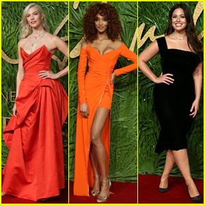 Karlie Kloss, Jourdan Dunn & Ashley Graham Go Glam for Fashion Awards 2017