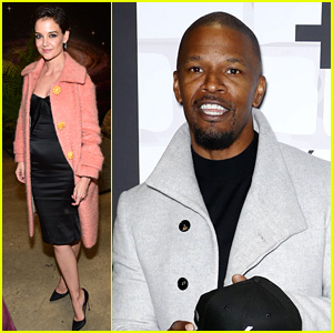 Katie Holmes Supports Jamie Foxx at Prive Revaux Store Opening!