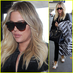 Pregnant Khloe Kardashian Heads to the Airport!