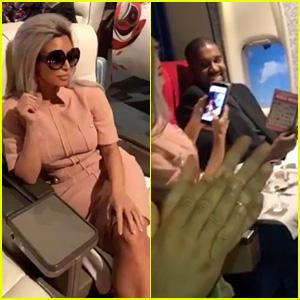 Kim Kardashian Goes Retro for Chrissy Teigen's Birthday, Kanye West Wins at Bingo!